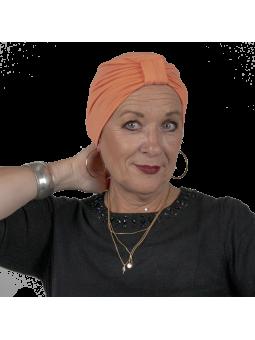 Bonnet de chimiothérapie Lou en bambou orange