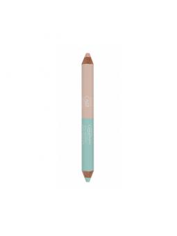 Crayon duo correcteur de teint 2g - beige / vert