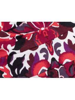 Bonnet chimiothérapie Tala en coton Ellen Wille - Flora red