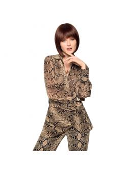 Perruque carré plongeant lisse mix fibres naturelles Yuri Mono
