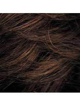 Perruque courte lisse mix fibres naturelles Elisa - chocolate