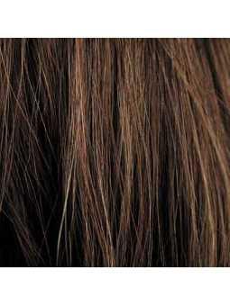 Perruque courte lisse mix fibres naturelles Elisa - mocca