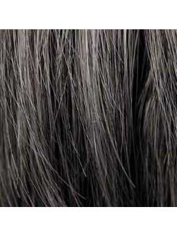 Perruque courte lisse mix fibres naturelles Elisa - saltpepper