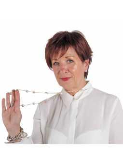 Perruque synthétique courte lisse Sandra - auburn