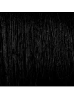 Perruque mi longue wavy synthétique Bérangère - black