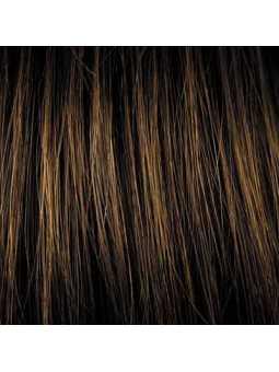 Perruque synthétique mi longue lisse Alizée - hazelnut