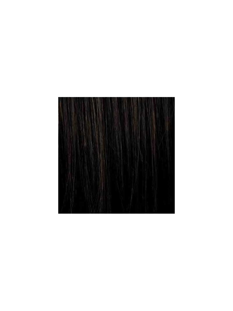 Perruque carrée lisse mix fibres naturelles Sabrina - darkchocolate