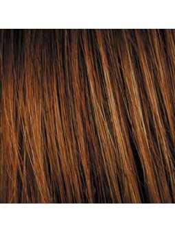 Perruque carrée lisse mix fibres naturelles Sabrina - safranred