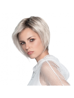 Perruque synthétique courte lisse Java coloris platineblonde rooted