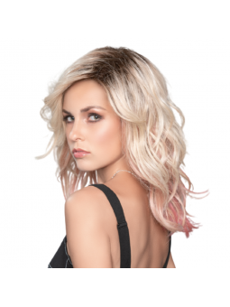 Perruque synthétique longue wavy Tabu - rose blonde