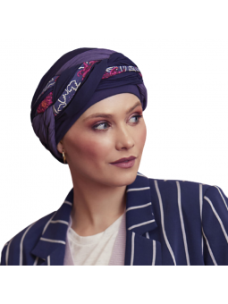 Bonnet de chimiothérapie Guna coloris Night Blue