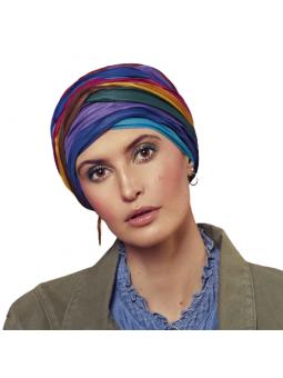 Bonnet chimiothérapie Viva Luna coloris Warm block colours