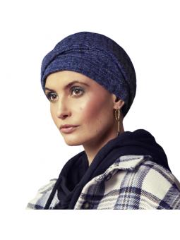 Bonnet chimiothérapie Viva Nelly coloris Blue W/Silver