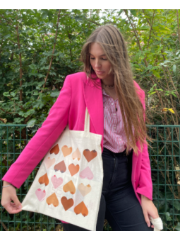 Totes bags Coeurs Octobre rose Ma Chevelure
