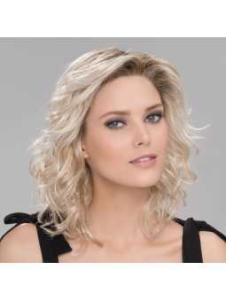Perruque synthétique longue wavy Beach mono- pastelblonde rooted