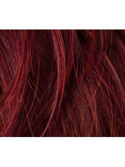 flame rooted- Perruque synthétique mi longue wavy Casino more