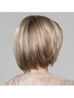 Perruque synthétique carré lisse Smoke Hi Mono- sandyblonde rooted