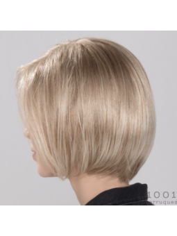 Perruque synthétique carré lisse Young mono- champagne rooted