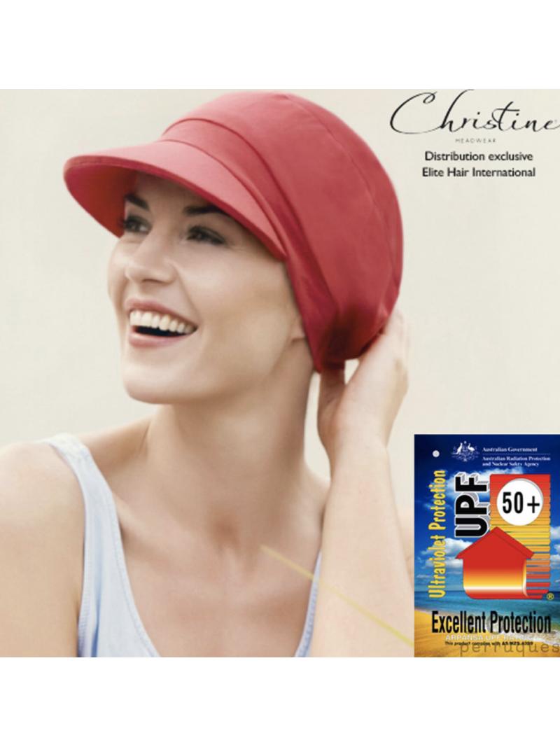 Casquette chimiothérapie protection UV - Coloris Coquelicot