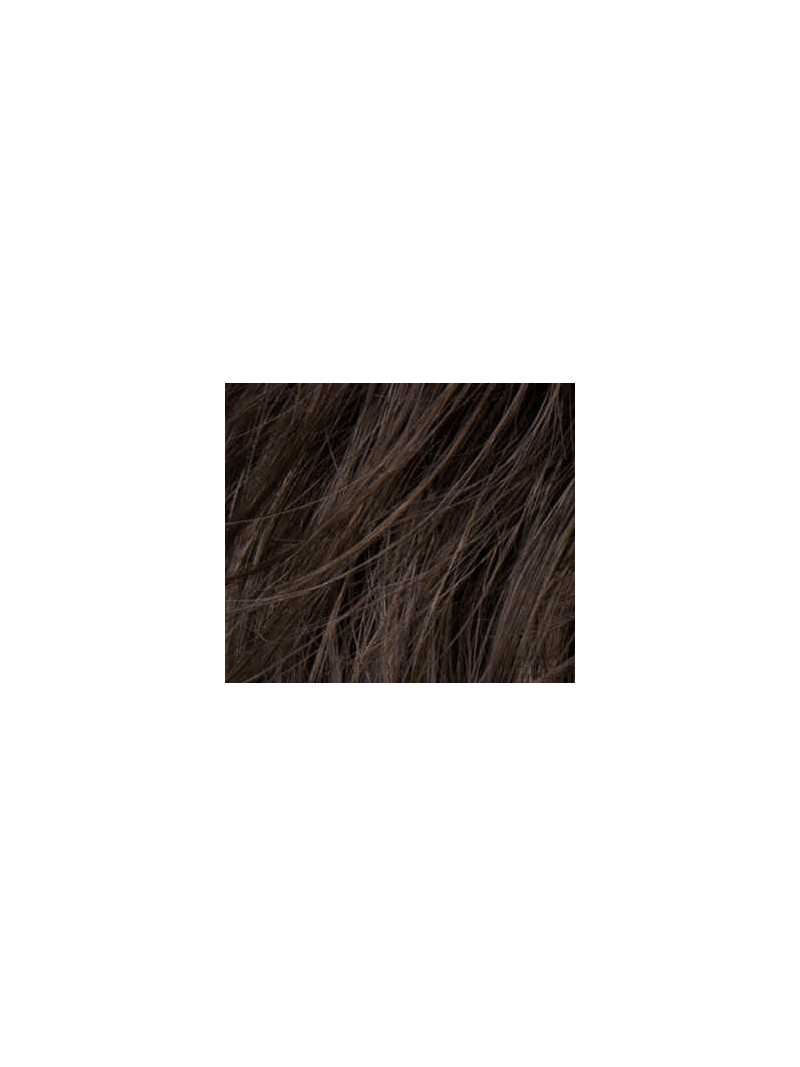 coffebrown mix- Perruque synthétique courte lisse Ginger mono