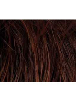 darkauburn rooted- Perruque synthétique courte lisse Carol mono