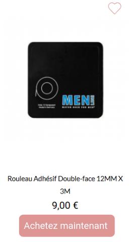 Rouleau adhésif double face 12mmx3m