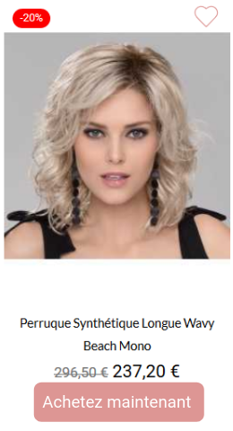 Perruque synthétique longue wavy Beach mono
