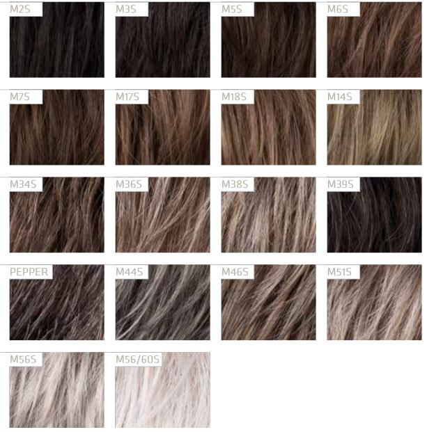 Exemple de couleurs de perruque pour homme