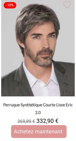 Perruque synthétique courte lisse Eric