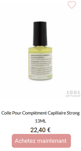 Colle pour complément capillaire strong