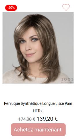 Perruque synthétique longue lisse Pam Hi Tec