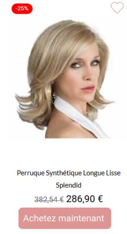 Perruque synthétique longue lisse Splendid