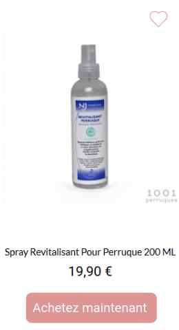 Spray revitalisant pour perruque 200 ML