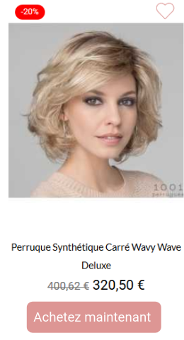 Perruque synthétique carré wavy wave deluxe